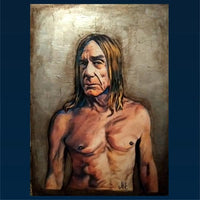 Iggy Pop Portrait Painting, special celebrity portraits by Jim Kook