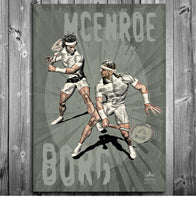 McEnroe vs Borg Portrait Poster - Ashby Saint Eve