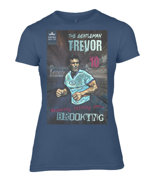 Superhero Trevor Brooking West Ham LADIES Premium Fitted T-Shirt - Ashby Saint Eve