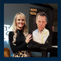 Stuart Pearce Portrait Painting, special celebrity portraits by Jim Kook