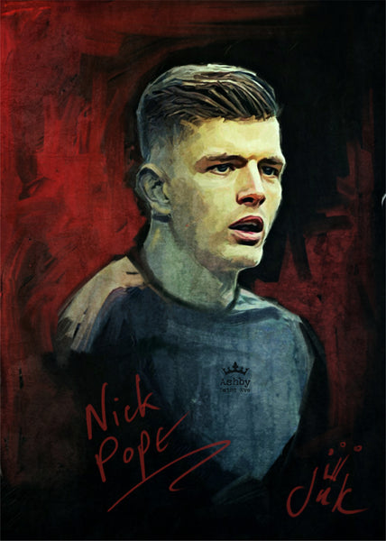 Nick Pope Burnley Portrait Poster (A2, A3, A4) - Ashby Saint Eve