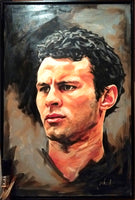 Ryan Giggs Portrait Painting, special celebrity portraits by Jim Kook