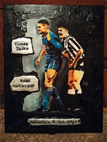 Vinnie Jones & Paul Gascoigne Portrait Painting, special celebrity portraits by Jim Kook