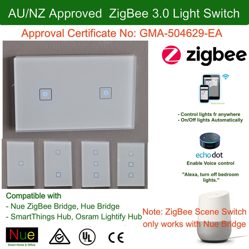 Smart Light Switch For Alexa And Google Home Voice Control - 1 Gang