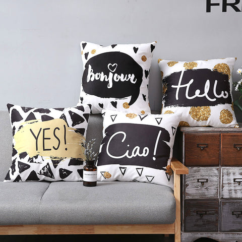 Black Gold Collection - Sofa Pillows Shop