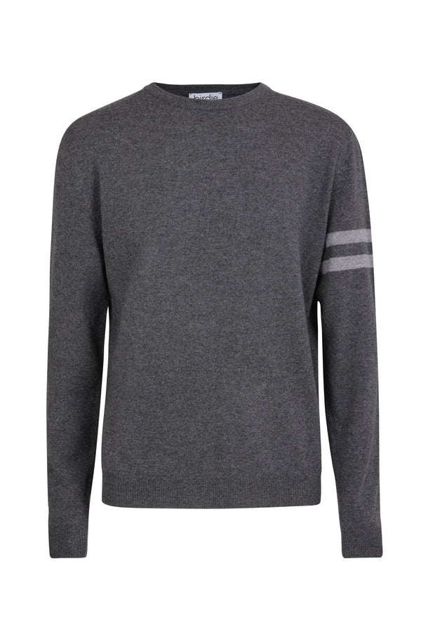 Mens crew jumper in graphite grey