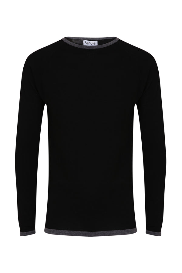 Mens Under-Birdie base layer in black & grey