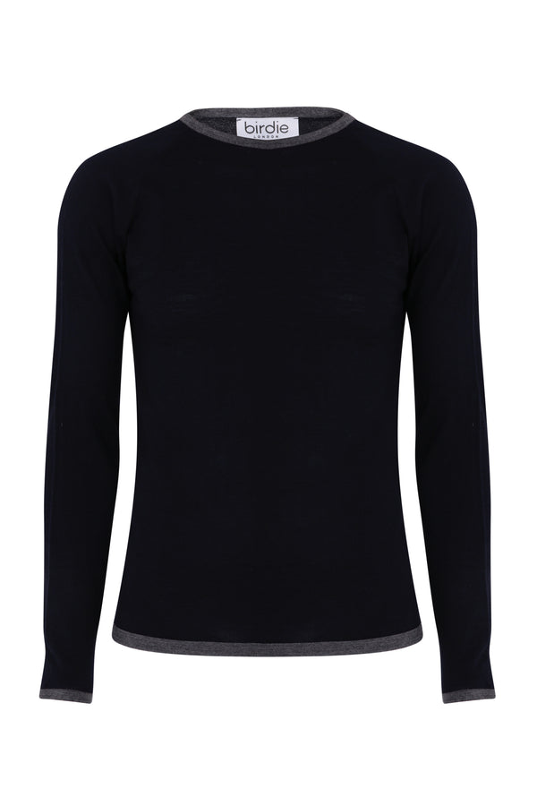 Mens Under-Birdie base layer in dark navy & grey