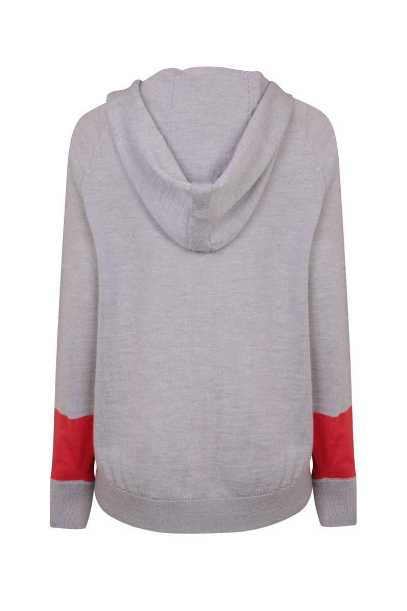Ladies hoodie jumper in light grey