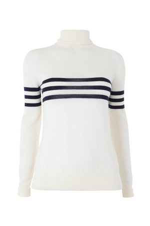 cream merino polo neck