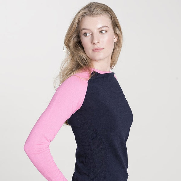 Ladies Under-Birdie base layer in navy & pink