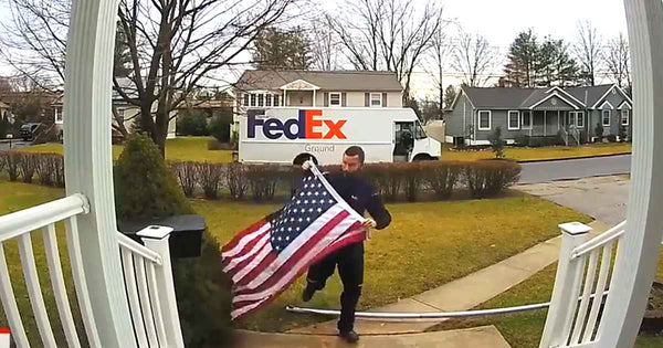Act of Patriotism: FedEx Worker Shows Respect and Patriotism by Folding Flag for Homeowner