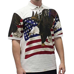 Constitution / Congress Eagle Flag Polo Shirt