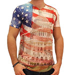 Flag Draped Capitol Men's V-Neck