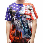 Men's Hollywood Sublimation American T-Shirt