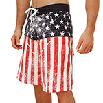 Distressed American Flag Board Shorts