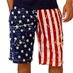 American Flag Casual Shorts