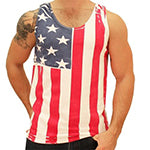 Vertical USA Tank Men's T-Shirt