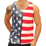 Men's 50/50 Stars and Horizontal Stripes Flag Tank