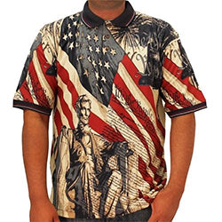 Patriotic Flag Liberty Polo Shirt