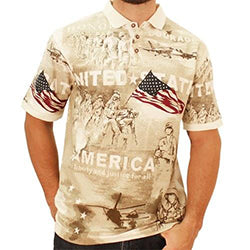 U.S. Military Proud Polo Shirt - White