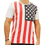 Men's T-Shirt  - Chor Vertical American Flag with stars on left