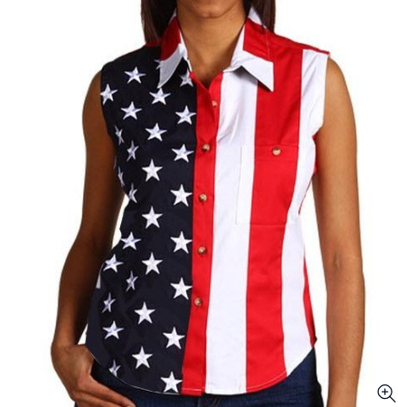 sleveless american flag shirt
