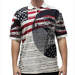 Patriotic Flag Polo