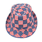 American Flag Fedora Abstract