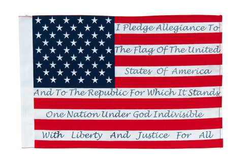 pledge of allegiance on an american flag