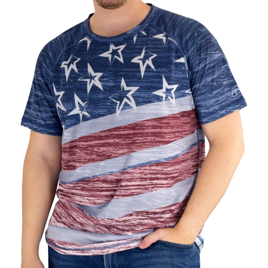 USA Patriotic Sublimated T-shirt - the flag shirt