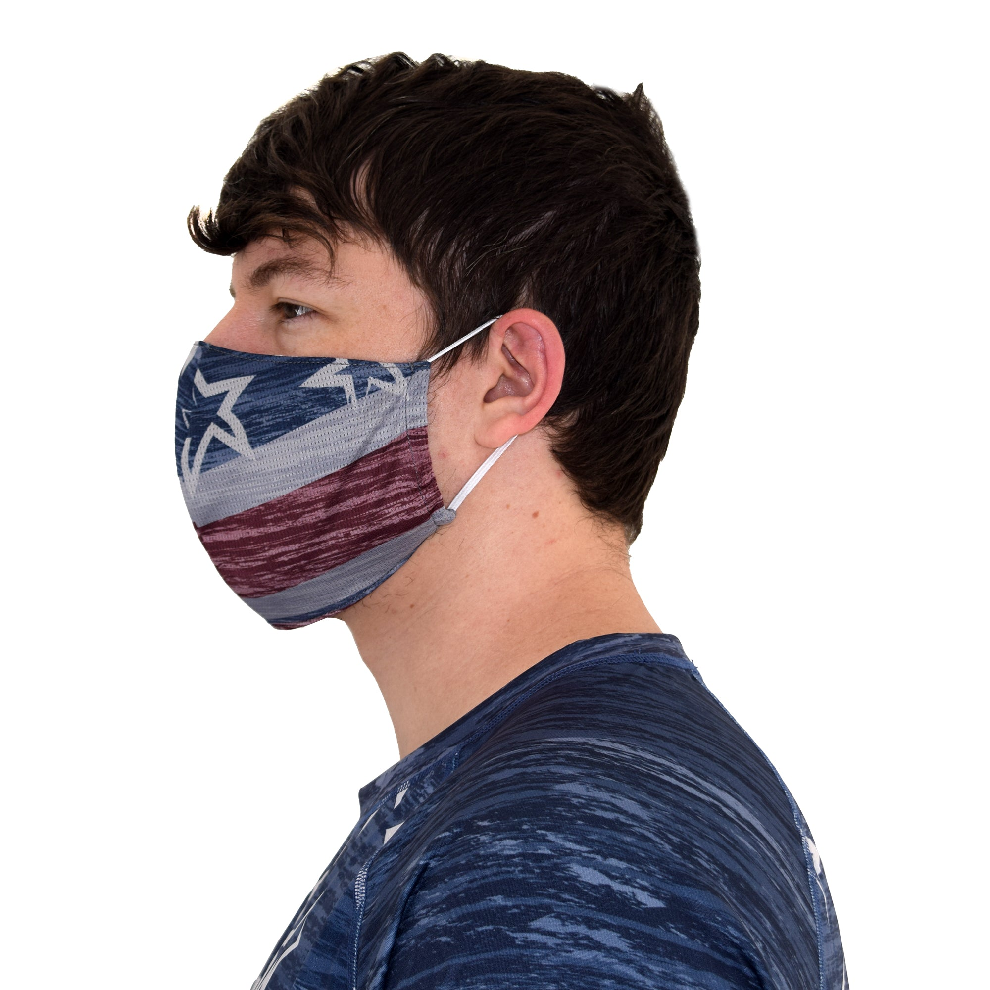 patriotic face mask - the flag shirt