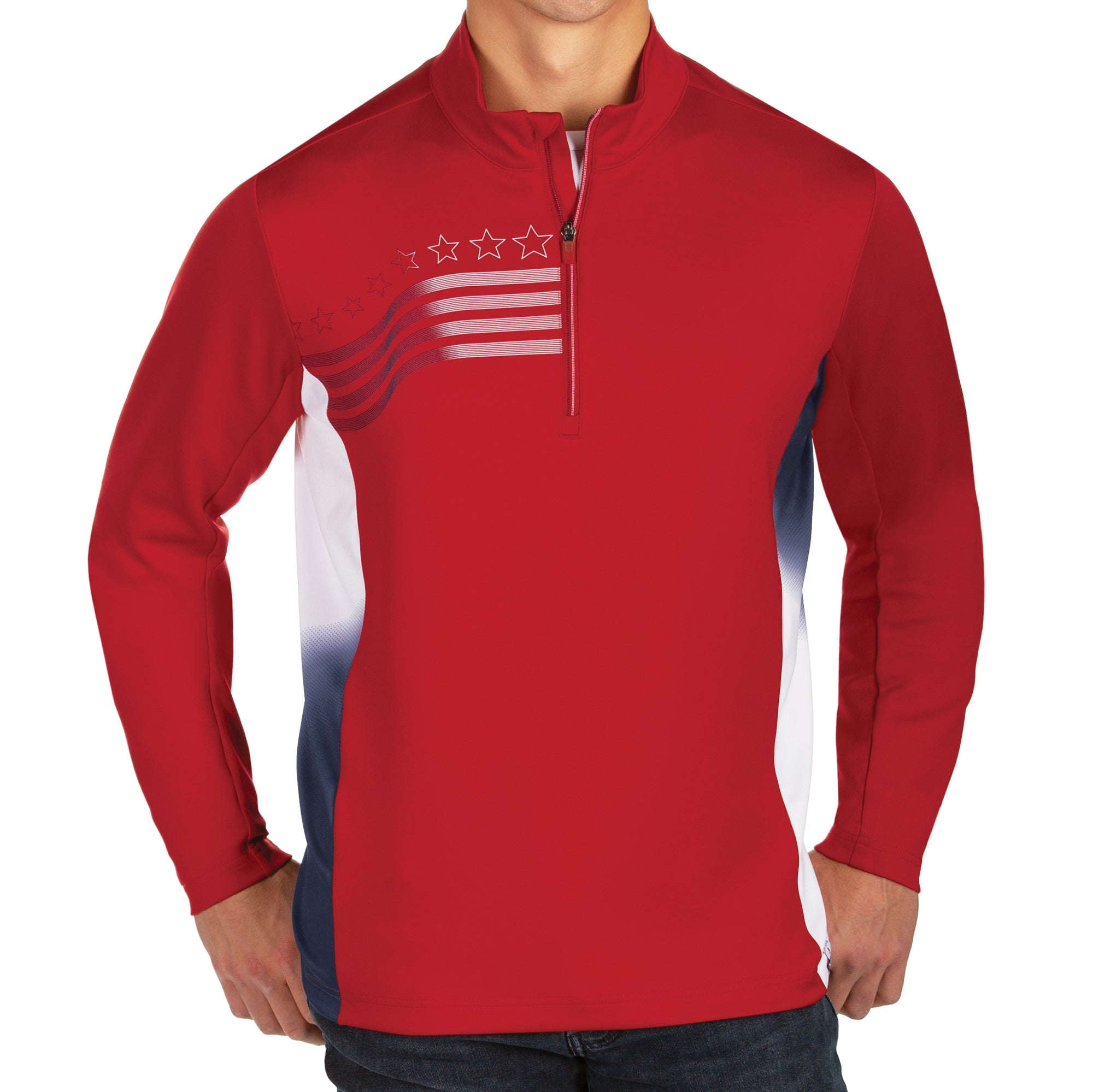 Men's Liberty 1/4 Zip Performance Golf Shirt - the flag shirt