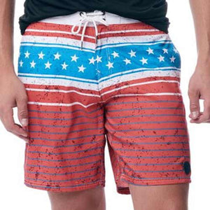 Mens American Print Board Shorts