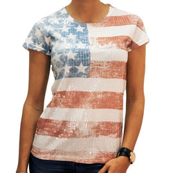 Stars and Stripes Sequin Tee - The Flag Shirt