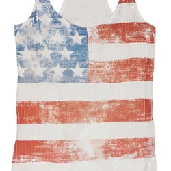 Womens Stars and Stripes Sequin tank - The Flag Shirt