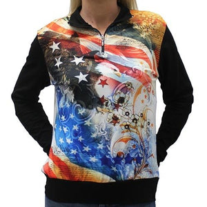 We The People Eagle One Quarter Zip Womens Lightweight - The Flag Shirt