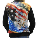 Load image into Gallery viewer, We The People Eagle One Quarter Zip Womens Lightweight - The Flag Shirt