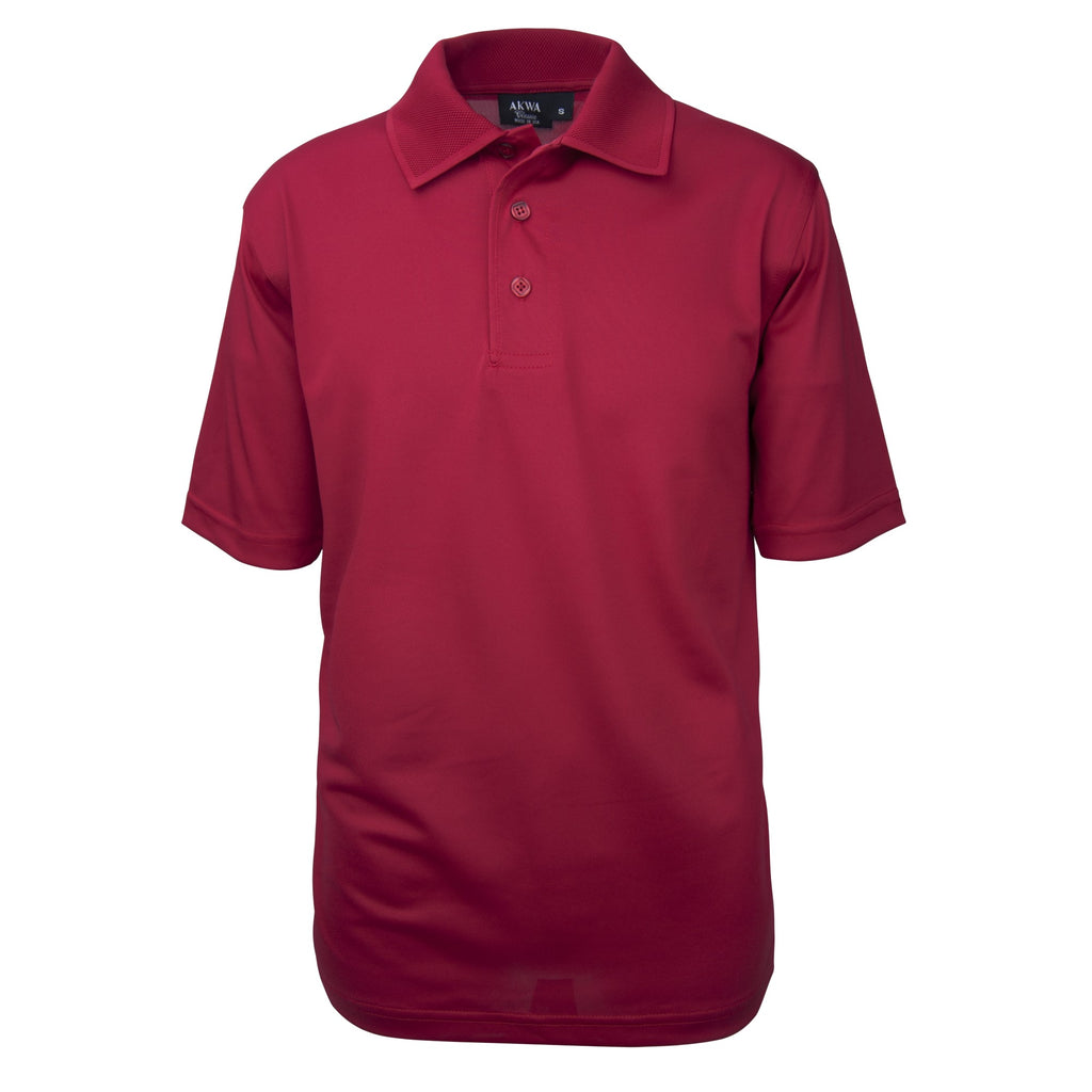 Men's Made in USA Tech Polo Shirt color_red - the flag shirt