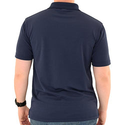 Mens Patriotic Classic Polo Shirt Navy
