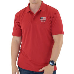USA Classic Polo Shirt Red