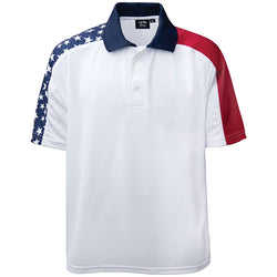 Men's Shoulder Stripe Patriotic Polo Shirt
