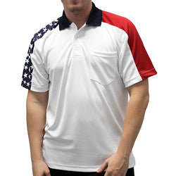Mens pocket Patriotic Polo Shirt - The Flag Shirt