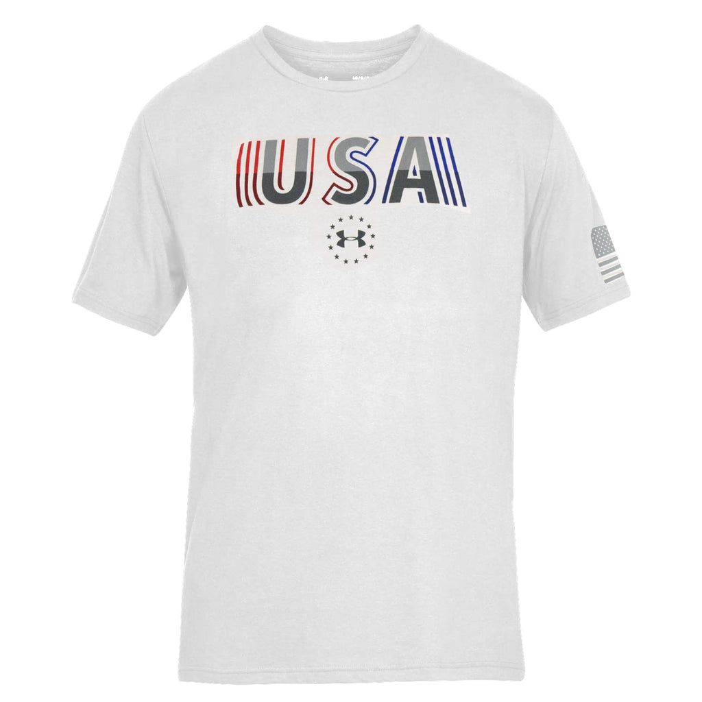 Under Armour Freedom USA Undefeated White - the flag shirt