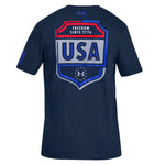Load image into Gallery viewer, Under Armour USA Emblem T-Shirt Navy