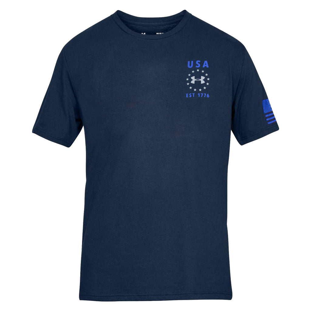 Under Armour USA Emblem t-shirt navy - the flag shirt