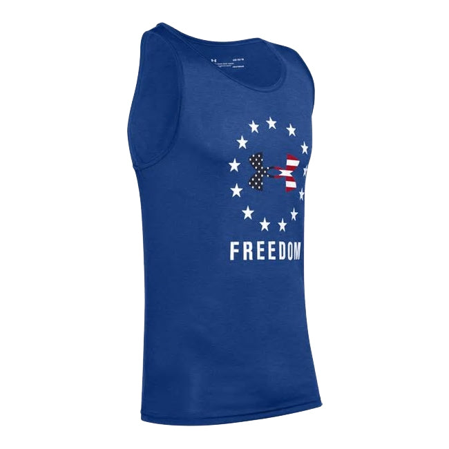 Under Armour Freedom Tech BFL Tank blu - the flag shirt