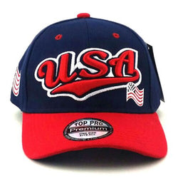 USA Flag Blue White and Red Hat Cap - The Flag Shirt