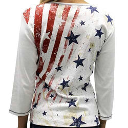 Ladies Vintage Stars and Stripes Top - The Flag Shirt