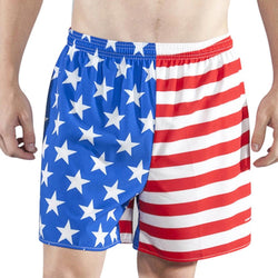 Autism Awareness American Flag-2 Mens Boardshorts Casual Classic Swimming Shorts